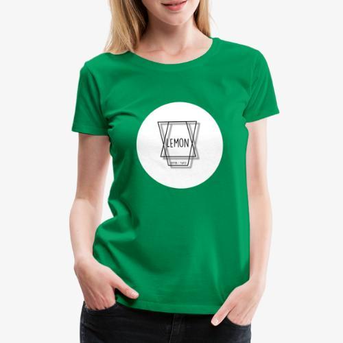 Minimalist Lemon Logo With Background - Premium-T-shirt dam