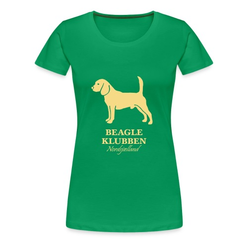 guld logo - Dame premium T-shirt
