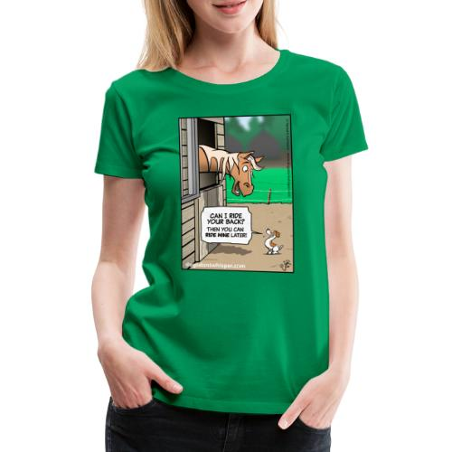 Horse & Jack Russell terrier dog - Women's Premium T-Shirt