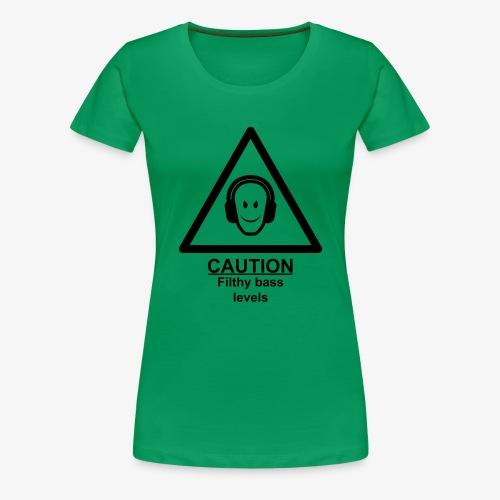 Caution Filthy Bass Logo - Women's Premium T-Shirt