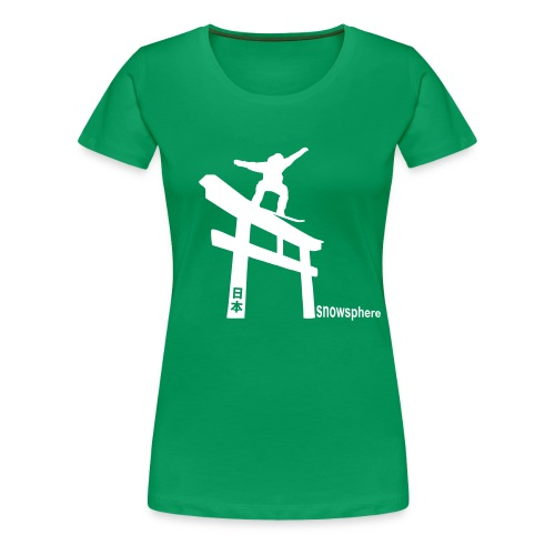 Snowboard Japan Torii Slide - Women's Premium T-Shirt