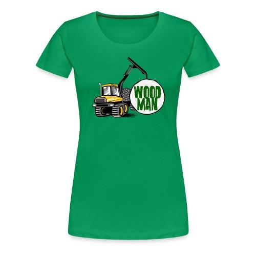 Woodman kuormatraktori, t paidat, hupparit, lahjat - Naisten premium t-paita