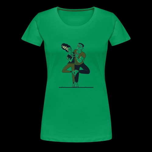 Partner Yoga - Frauen Premium T-Shirt