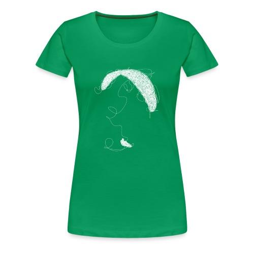 Paraglider scribble white - Frauen Premium T-Shirt