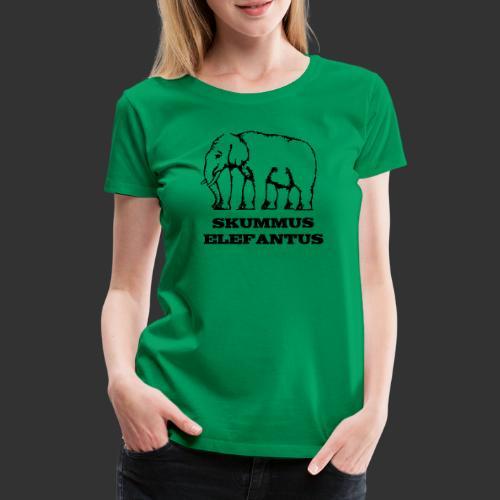 Skummus Elefantus - Premium-T-shirt dam
