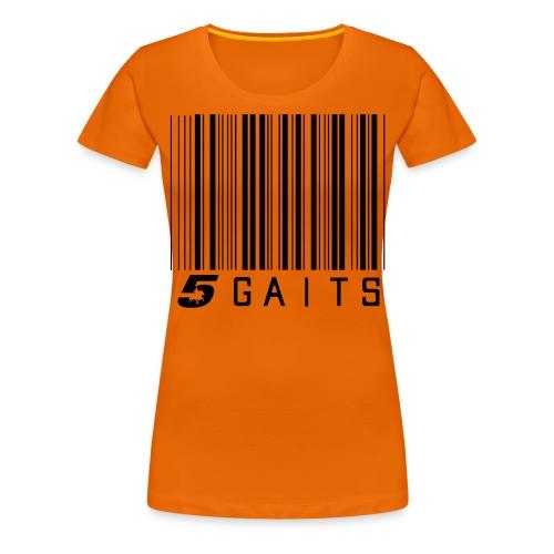 5gaitsBarcode - Women's Premium T-Shirt