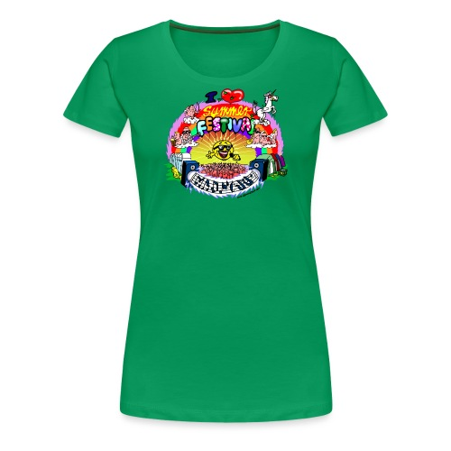 I LOVE summer festival madness - Frauen Premium T-Shirt
