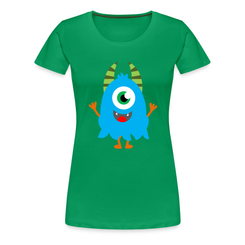 Lachendes Blaues Monster - Frauen Premium T-Shirt