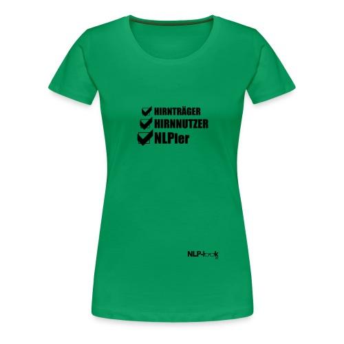 hirntraeger de b png - Frauen Premium T-Shirt