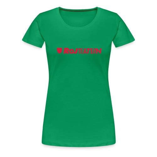 RoJteatern_logo_SV_vertik - Premium-T-shirt dam