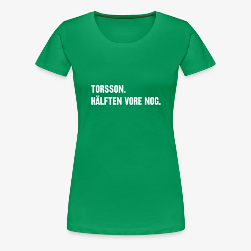 Hälften tshirt - Premium-T-shirt dam