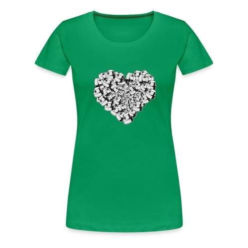heart for art street love - Dame premium T-shirt