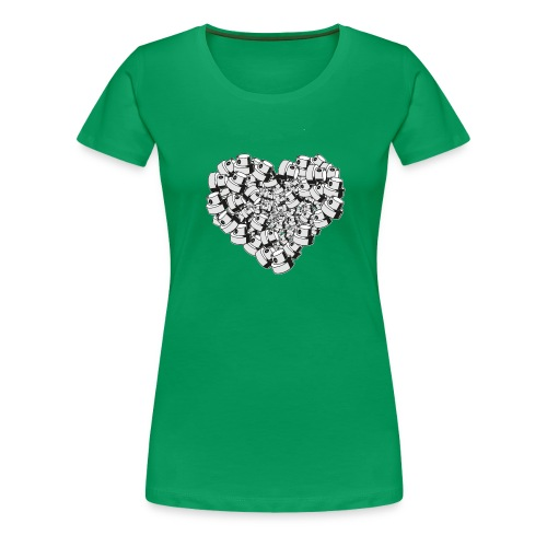 heart for art street love - Dame premium T-shirt