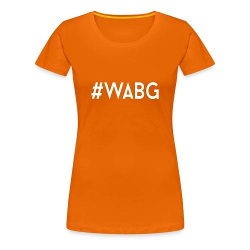 WABG WIT png - Vrouwen Premium T-shirt