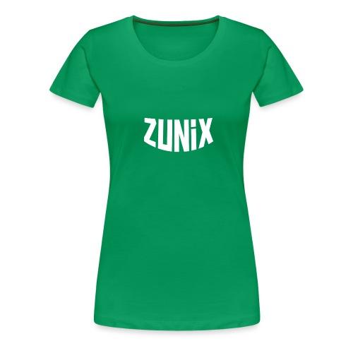 Zunix T-Shirt Man Logo Big - Vrouwen Premium T-shirt