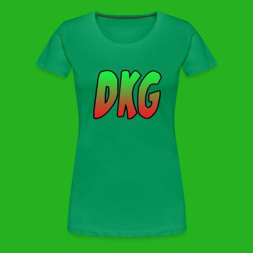 Red and black DKG Snapback - Vrouwen Premium T-shirt