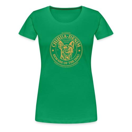 CHIHUA-DENIM Symb Orange - Frauen Premium T-Shirt