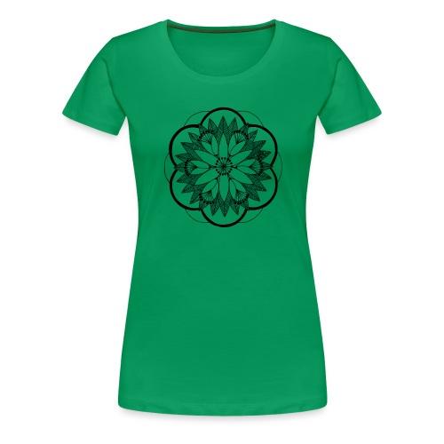 Pond Bouquet Mandala - Women's Premium T-Shirt