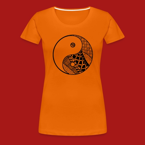 Decorative-Yin-Yang - Dame premium T-shirt