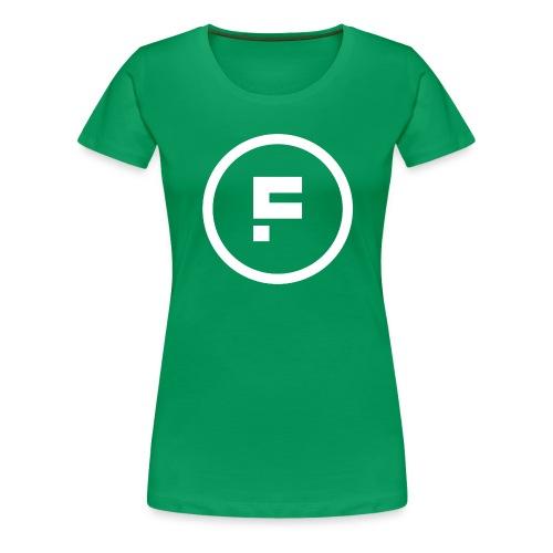 Logo Rond Wit Fotoclub - Vrouwen Premium T-shirt
