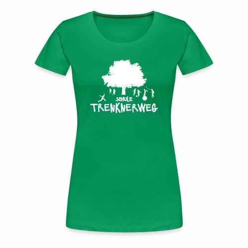 Weißes Logo: nur für grüne Textilien! - Frauen Premium T-Shirt