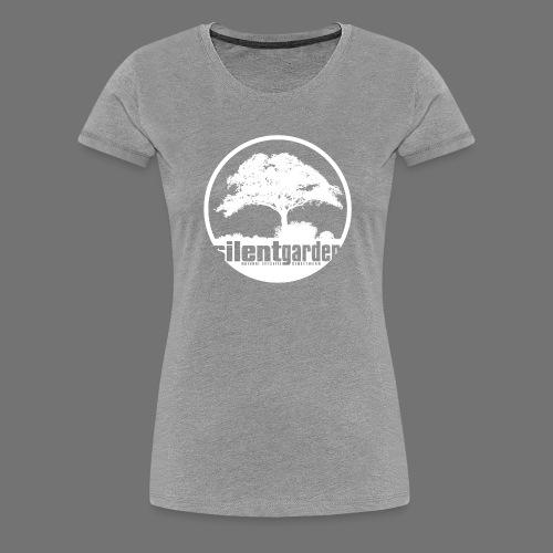 hiljainen puutarha (valkoinen) - Naisten premium t-paita