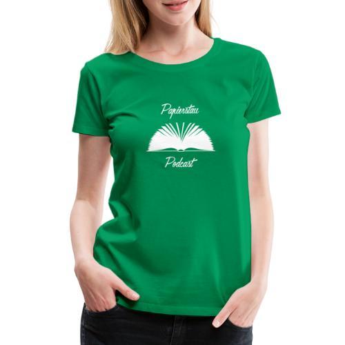 Papierstau Logo (hell) - Frauen Premium T-Shirt