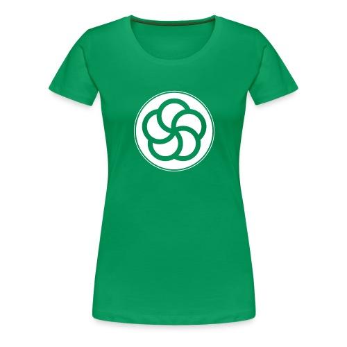 19 Rantai Solo 5Ringe Solo weiss - Frauen Premium T-Shirt