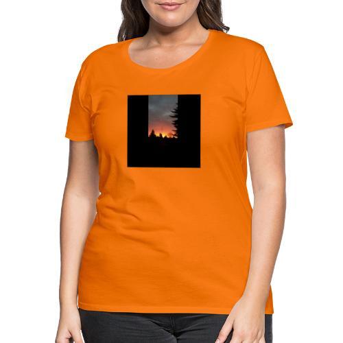 Morgenrotdrama Small Short - Frauen Premium T-Shirt
