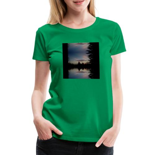 Sonnenhorizont Spiegelung Ufowolke - Frauen Premium T-Shirt