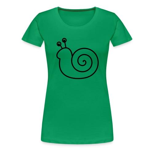 Lustige Schnecke - Frauen Premium T-Shirt