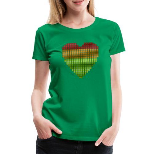 Techno EQ Equalizer Musik Herz Anzeige - Frauen Premium T-Shirt