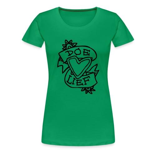 doe lief hart tattoo - Vrouwen Premium T-shirt