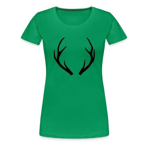 deer antler - Women's Premium T-Shirt