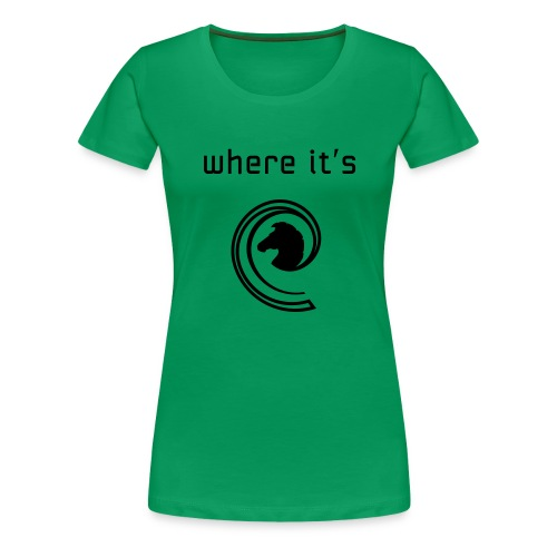 where its at wave style - Women's Premium T-Shirt