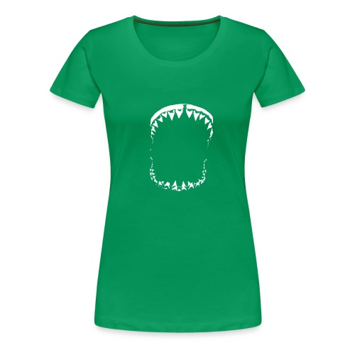 Shark White - T-shirt Premium Femme