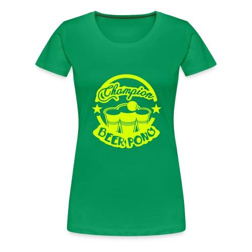 champion beer pong logo vintage1 - T-shirt Premium Femme
