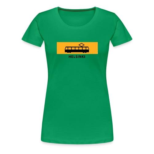 RATIKKA PYSÄKKI HELSINKI T-paidat ja lahjatuotteet - Naisten premium t-paita