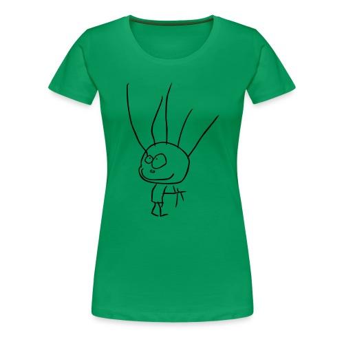 BARNTECKNING - Premium-T-shirt dam