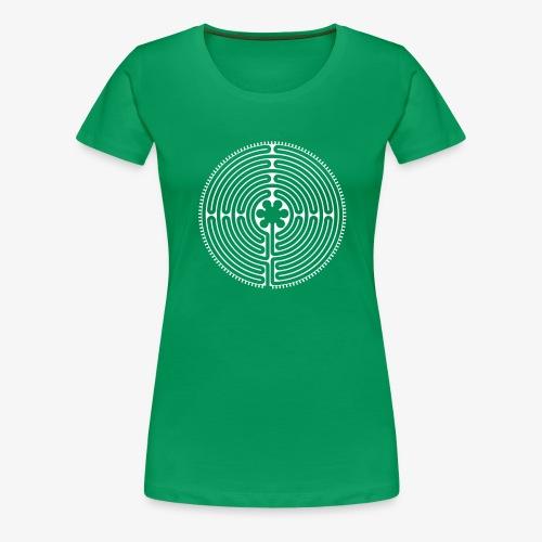 Labyrinth von Chartres - Frauen Premium T-Shirt