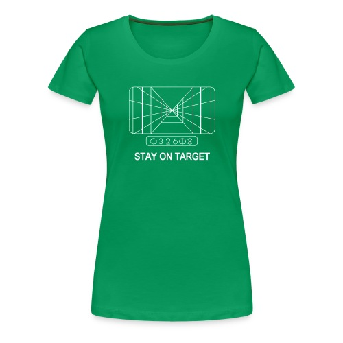 STAY ON TARGET 1977 TARGETING COMPUTER - Women's Premium T-Shirt