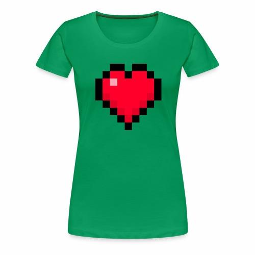 Cuore di pixel - Maglietta Premium da donna