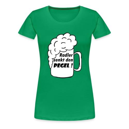 Radler senkt den Pegel! - Frauen Premium T-Shirt