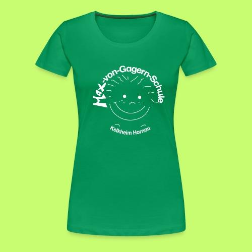 Mäxchen Logo weiß - Frauen Premium T-Shirt