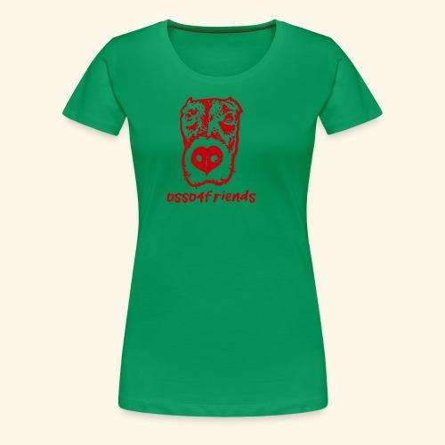 Logo ROSSO TRASPARENTE creative - Maglietta Premium da donna
