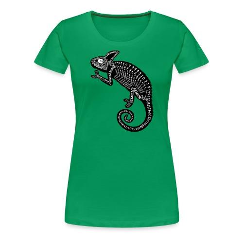 Chameleon Skeleton - Dame premium T-shirt