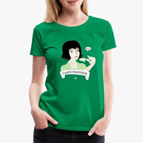 Carpe Prandium - Premium-T-shirt dam