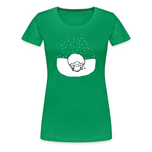 Snowy Sheep - Women's Premium T-Shirt