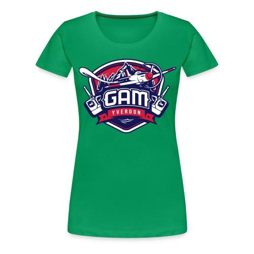 gam yverdon logo cmjnpage001 - T-shirt Premium Femme