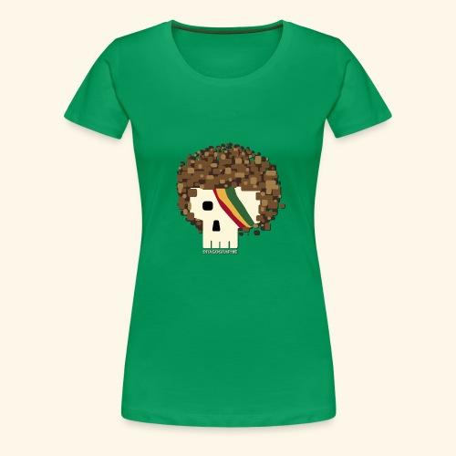 RASTA SKULL - T-shirt Premium Femme